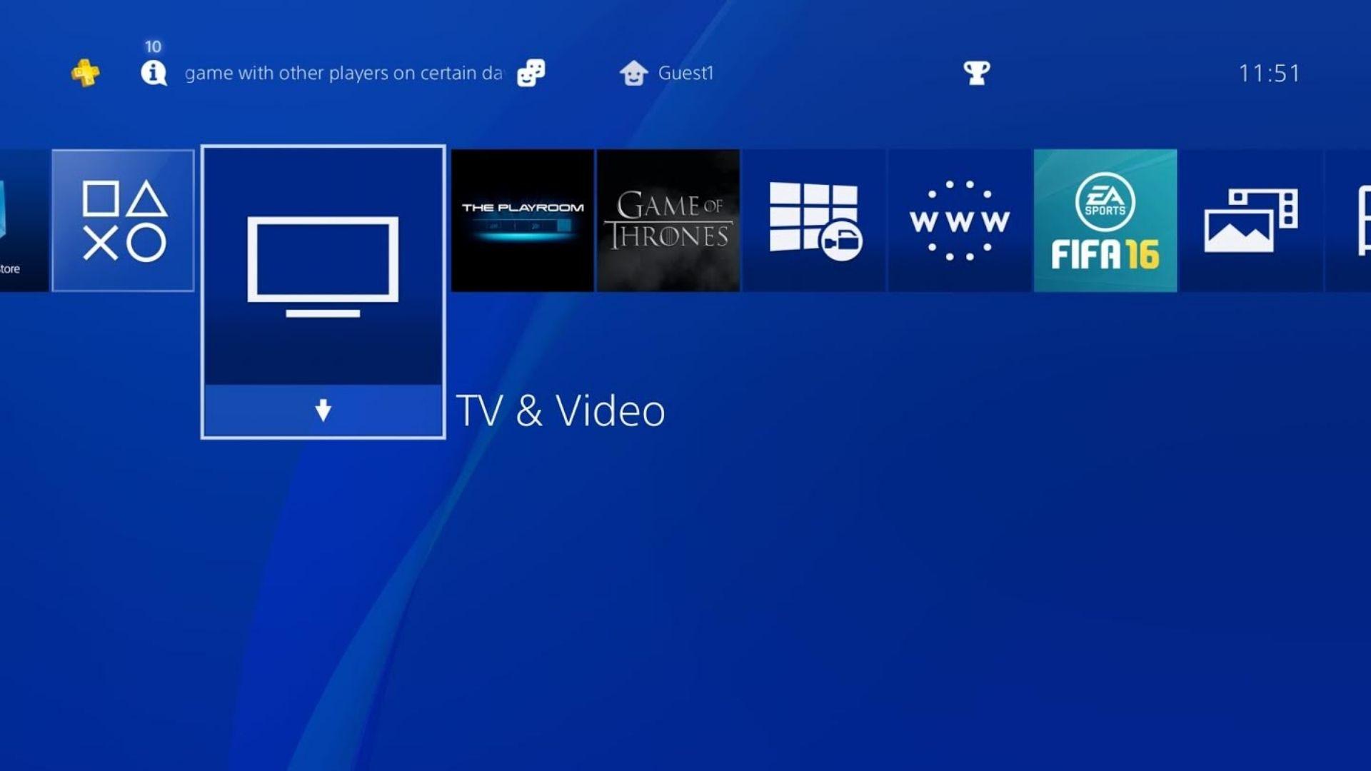 STARZ app for PS4