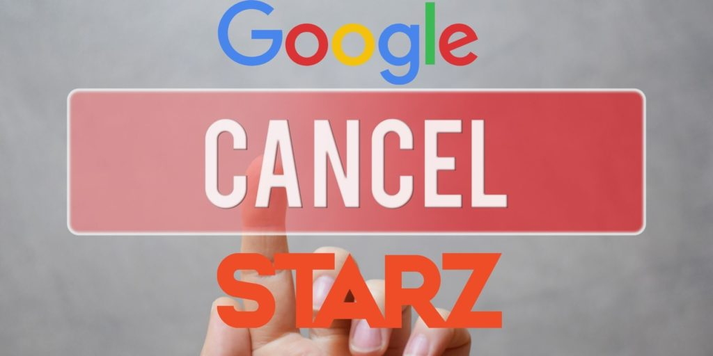 Cancel Starz subscription on android through google play store