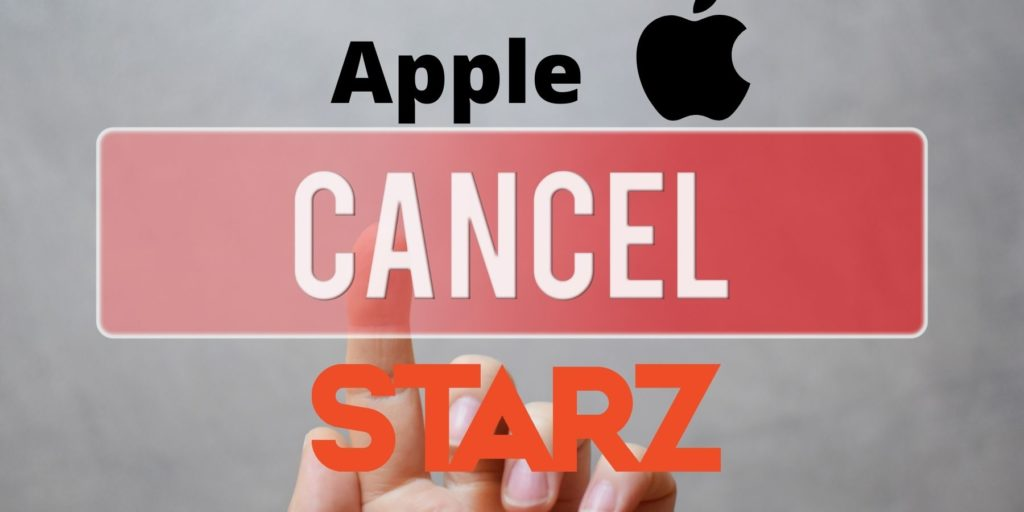 cancel starz subscription through apple