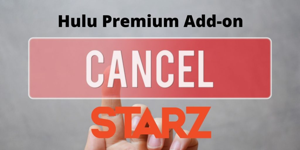 cancel starz subscription through hulu